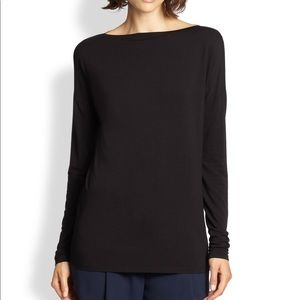 Vince boat neck long sleeve top